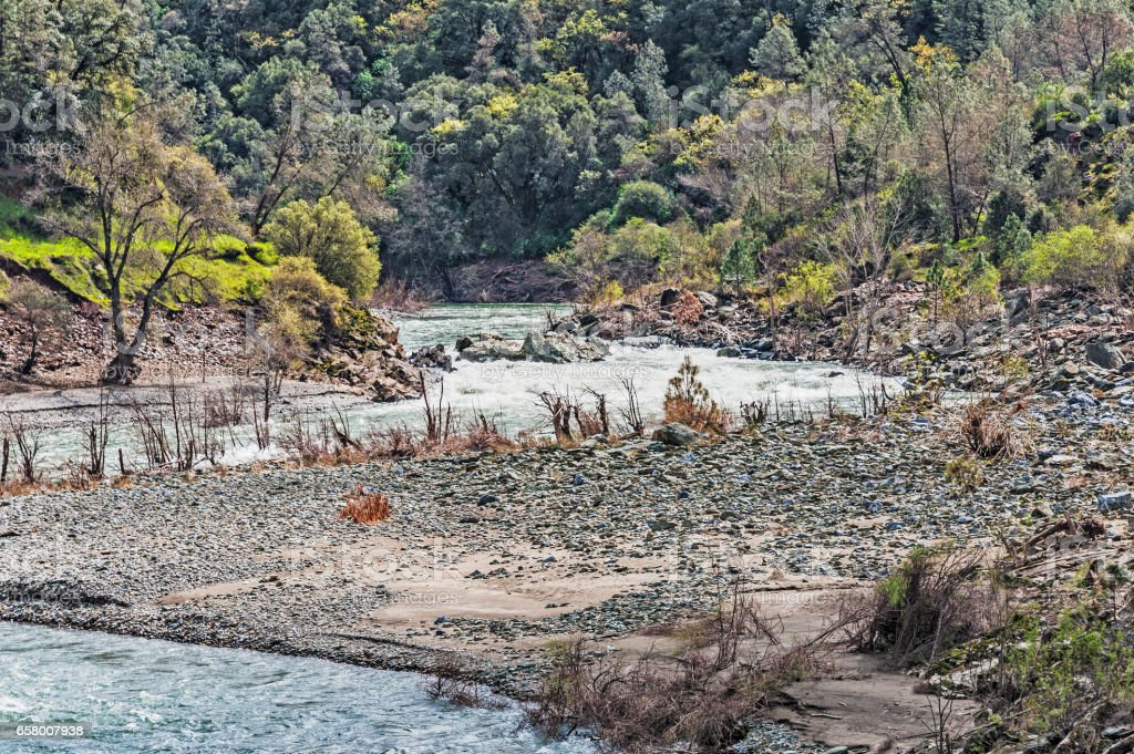 Middle Fork American River Auburn Canyon stock photo