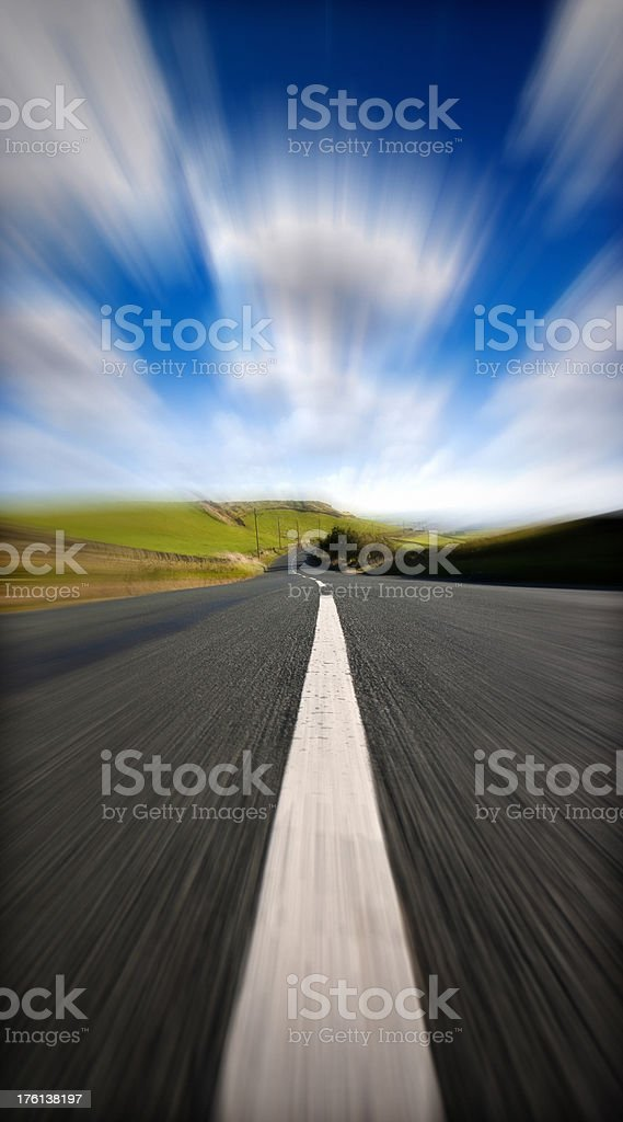 Middle of a Country Road royalty-free stock photo
