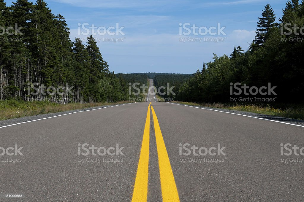 Middle of Rural Road royalty-free stock photo