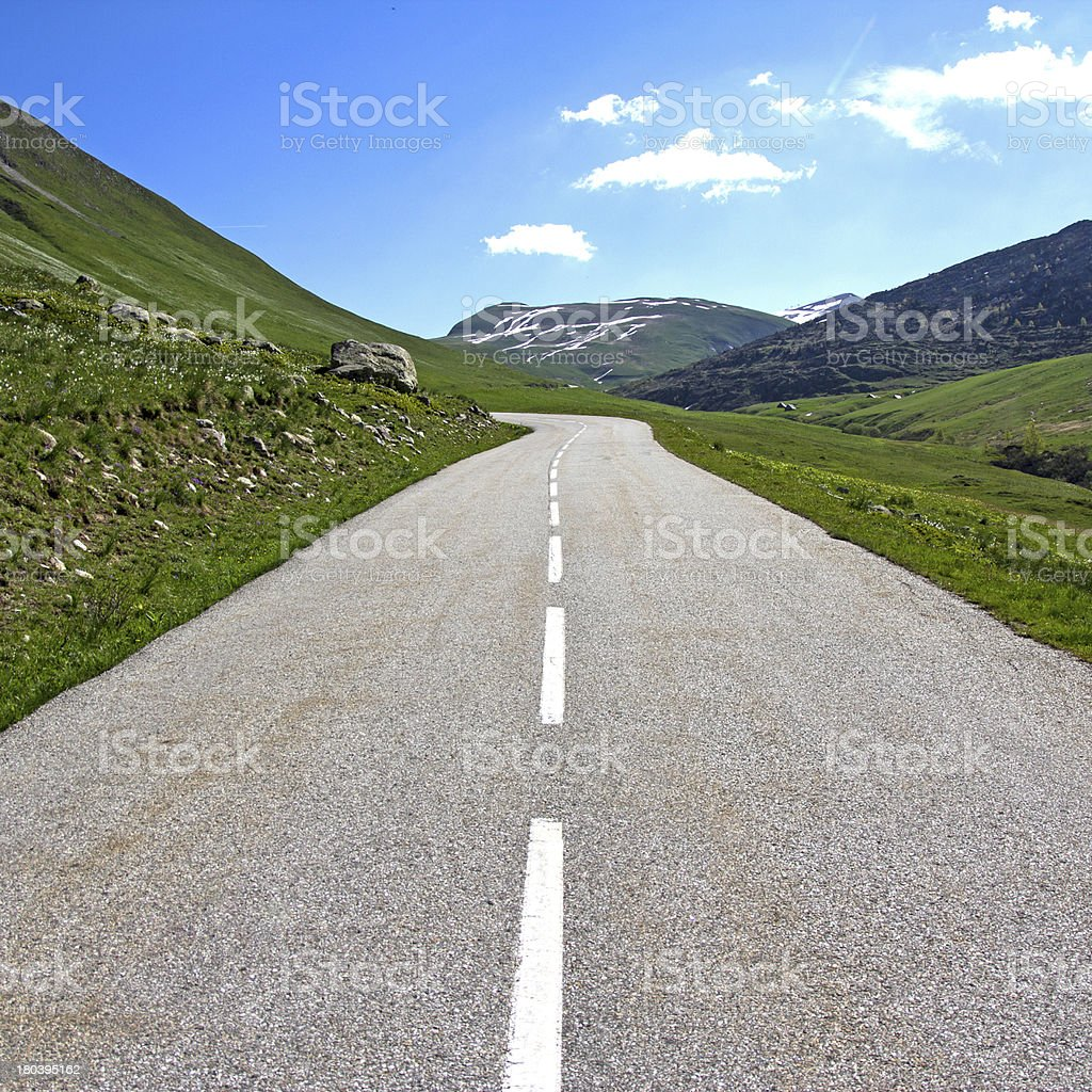 Middle of the Road. royalty-free stock photo