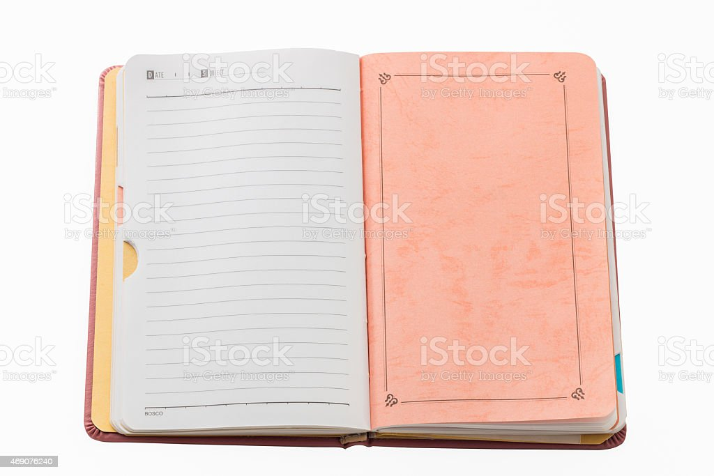 Middle pages of the book stock photo