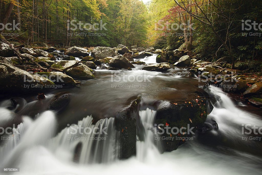 Middle Prong Little River, Great Smoky Mountains National Park royalty-free stock photo