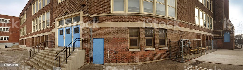 Middle school Building royalty-free stock photo