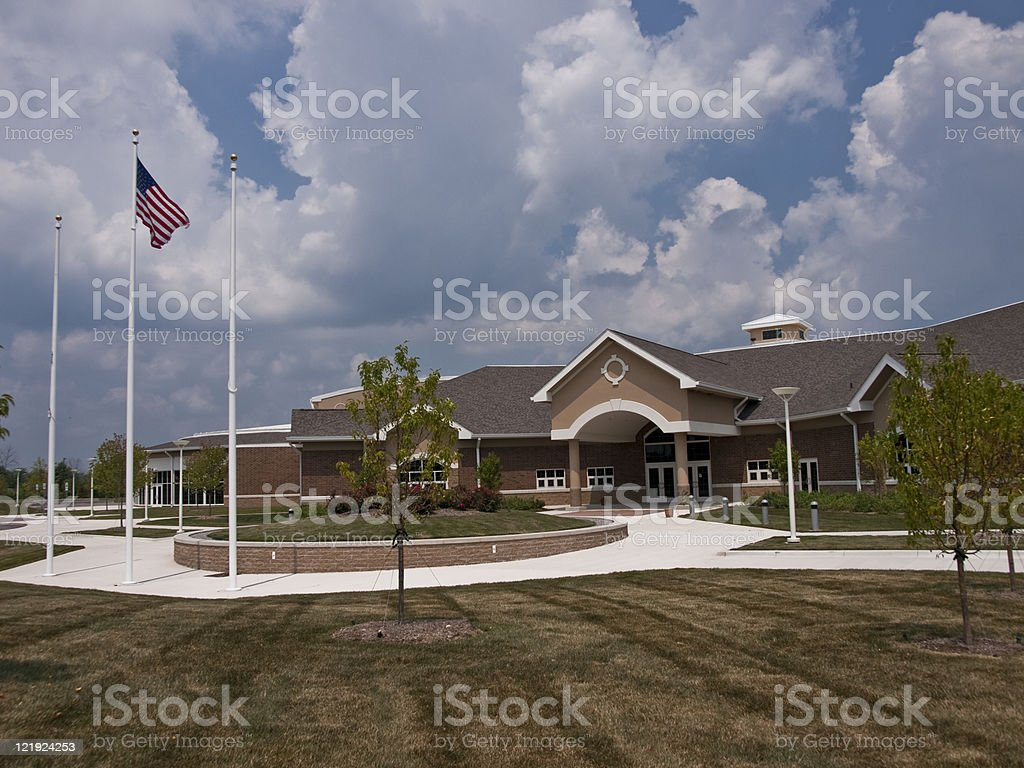 Middle School Entrance royalty-free stock photo