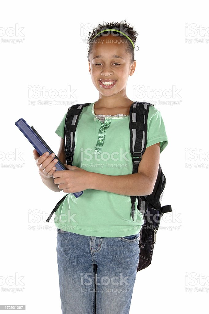 Middle School Student royalty-free stock photo