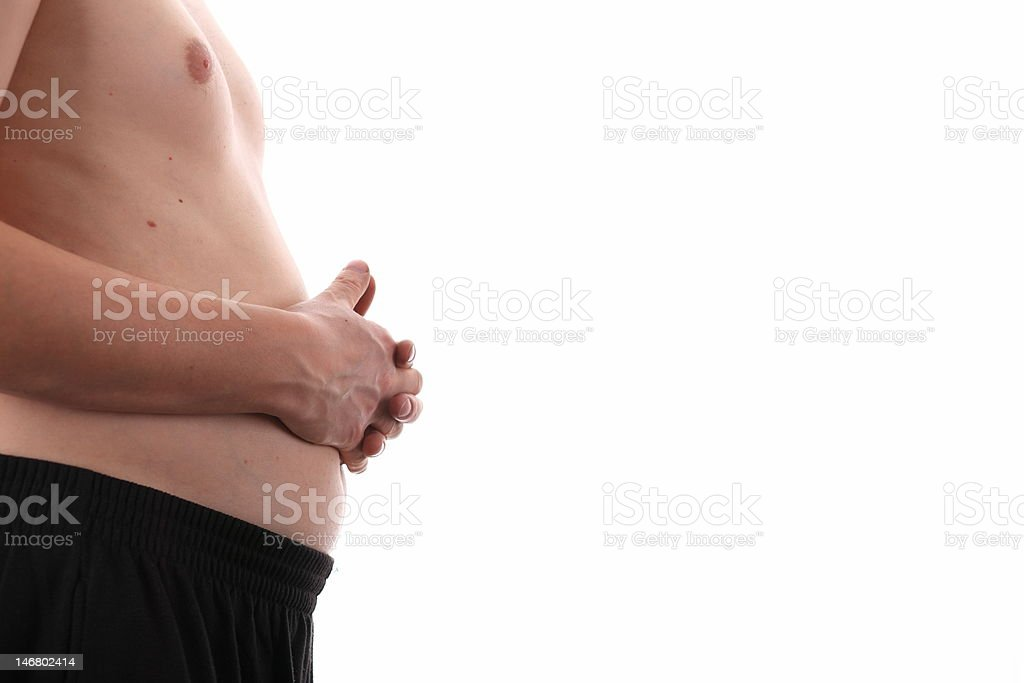 middle size stomach royalty-free stock photo