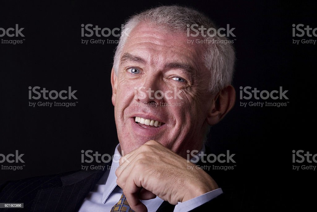 Middle-aged businessman royalty-free stock photo
