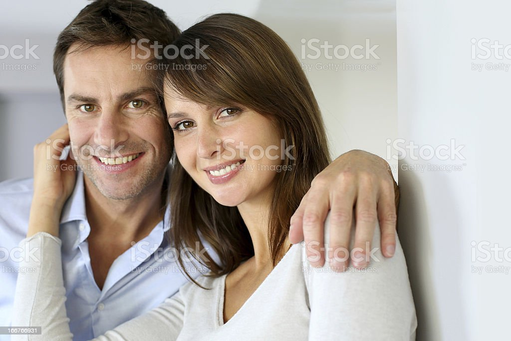 Middle-aged couple portrait stock photo
