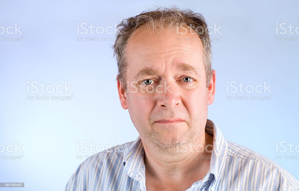 Middle-Aged Man Unhappy About Something royalty-free stock photo