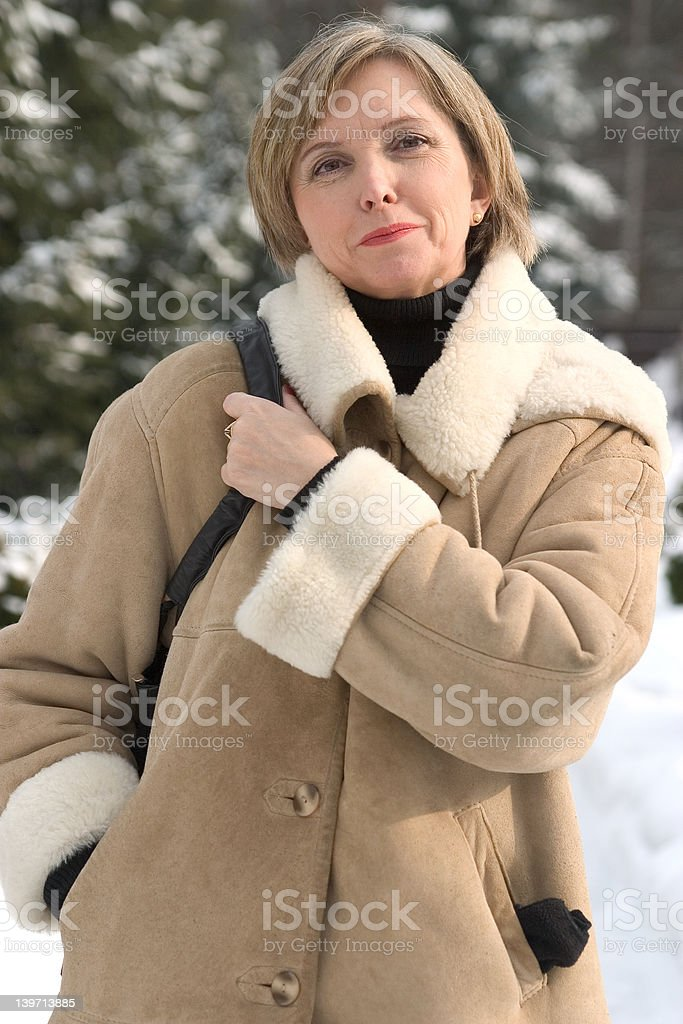 Middle-aged woman royalty-free stock photo