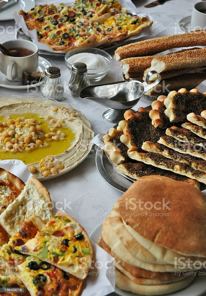 Middle-Eastern breakfast royalty-free stock photo