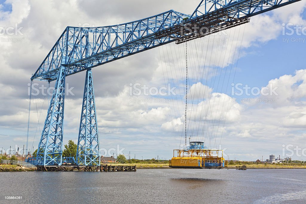 Middlesbrough Transporter Bridge stock photo
