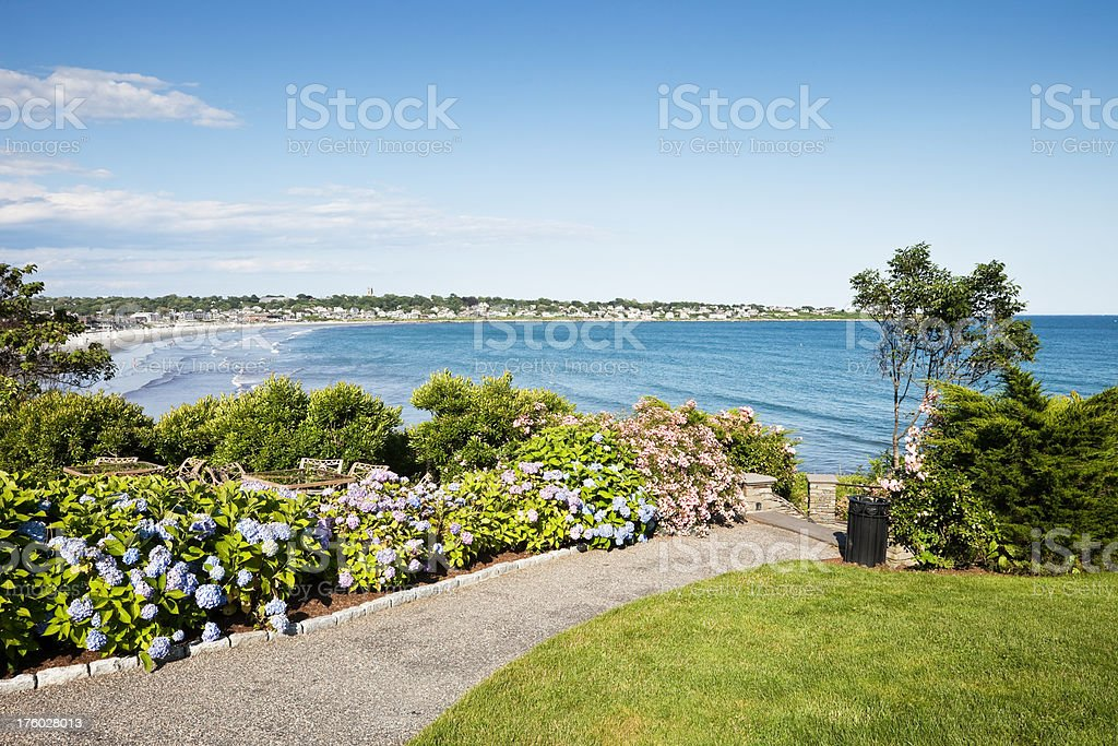 Middletown Rhode Island and Eastons Beach stock photo