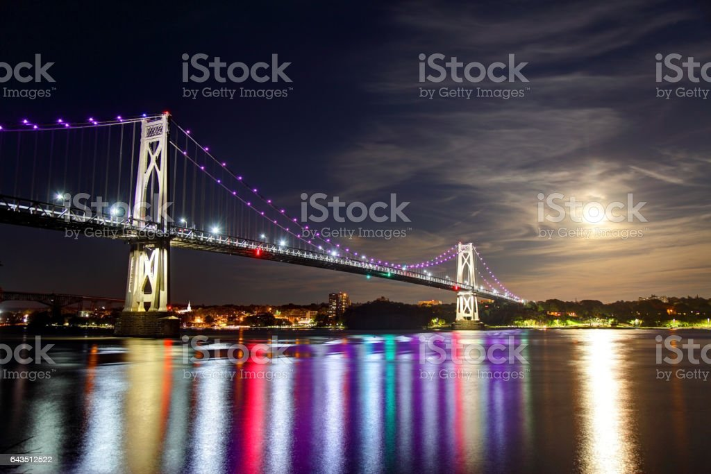 Mid-Hudson Bridge in Poughkeepsie stock photo