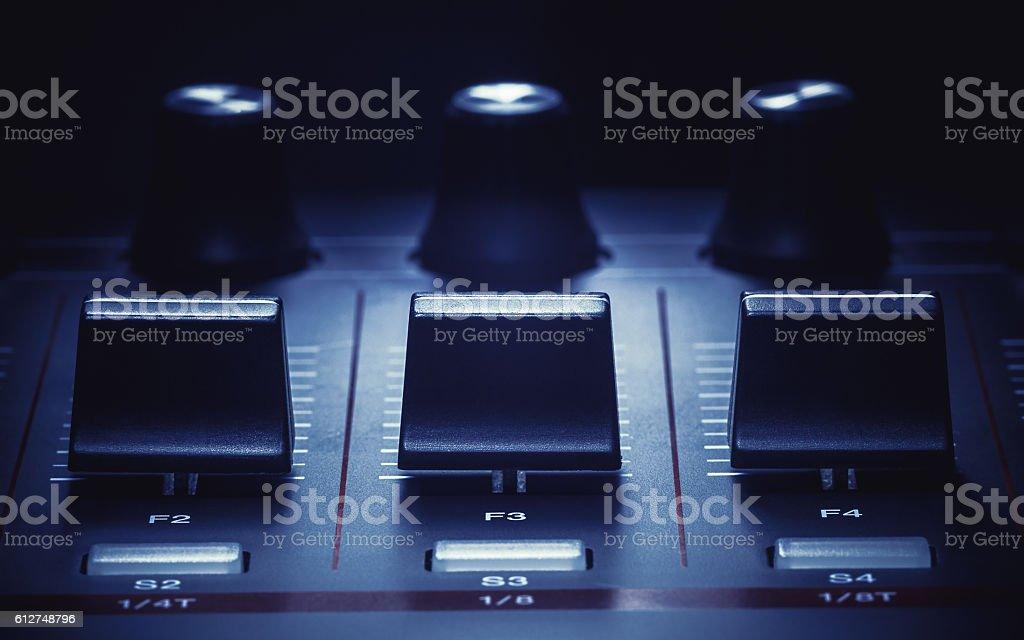 Midi Controller Details stock photo