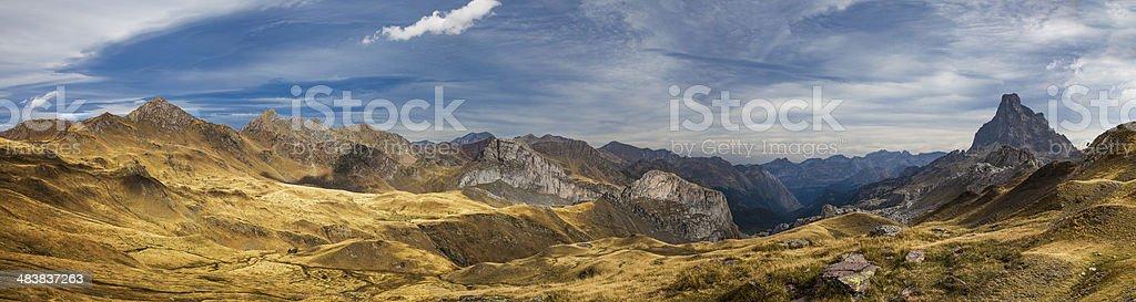 Midi D'Ossau panoramic landscape stock photo