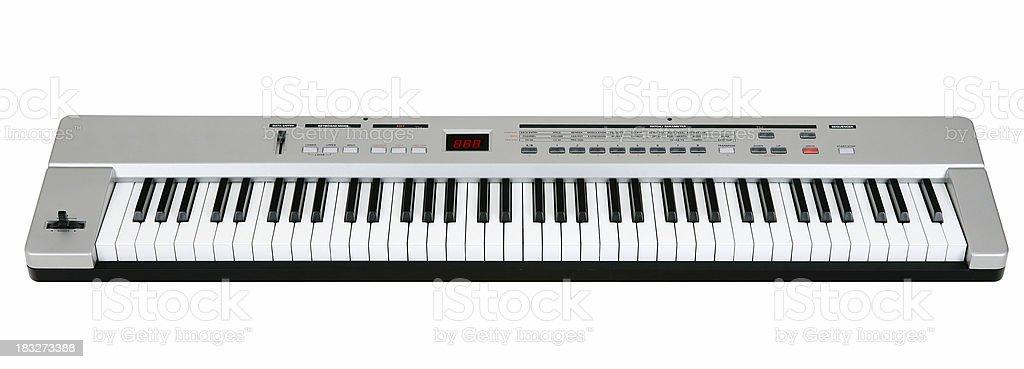 Midi keyboard on white stock photo