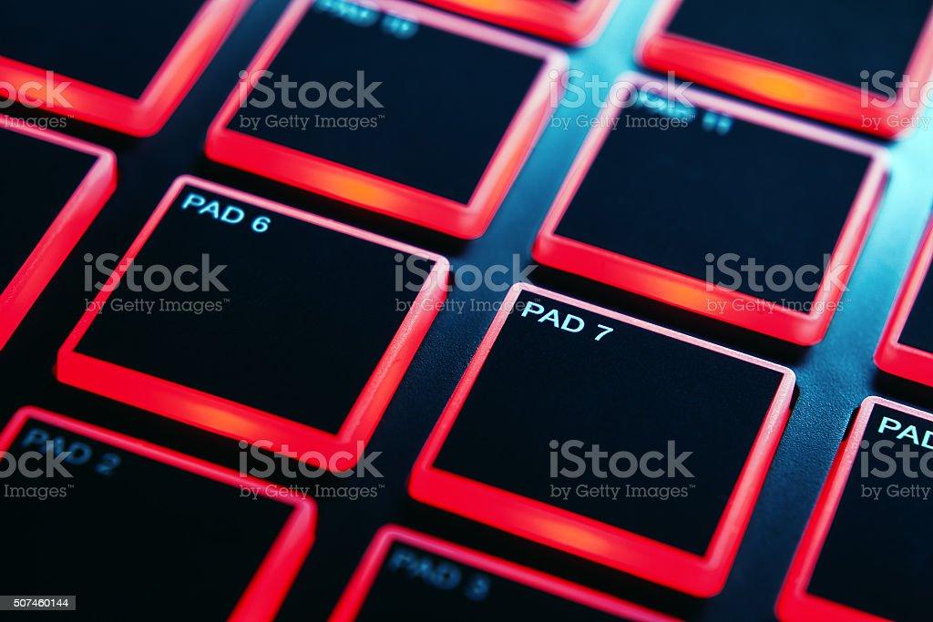 Midi Pads of Modern Controller stock photo