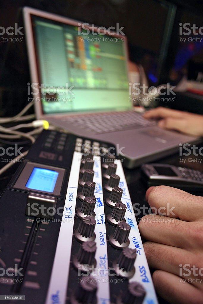 midi-controler-laptop2 royalty-free stock photo