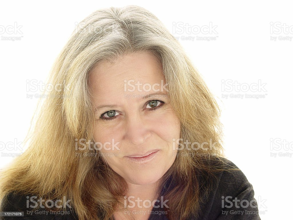 midlife - patient smile royalty-free stock photo