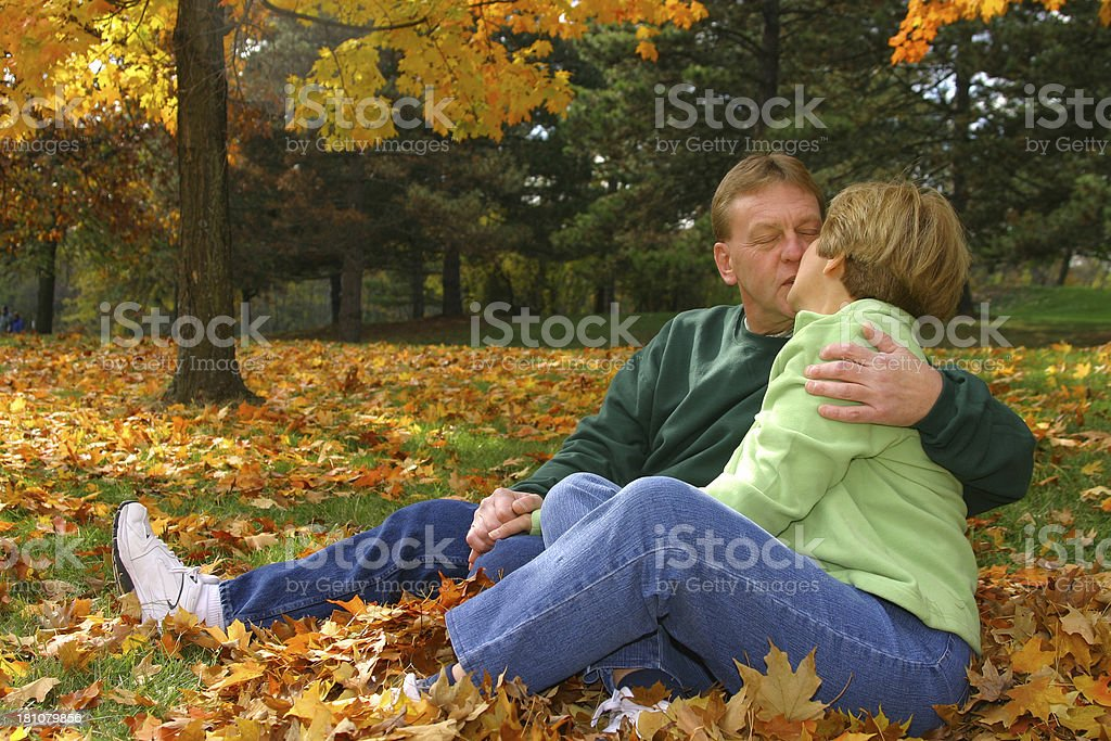Midlife Series:  Kissing royalty-free stock photo