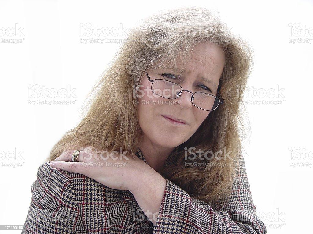 midlife - shoulder pain royalty-free stock photo
