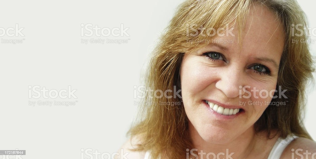 midlife : woman smiling royalty-free stock photo