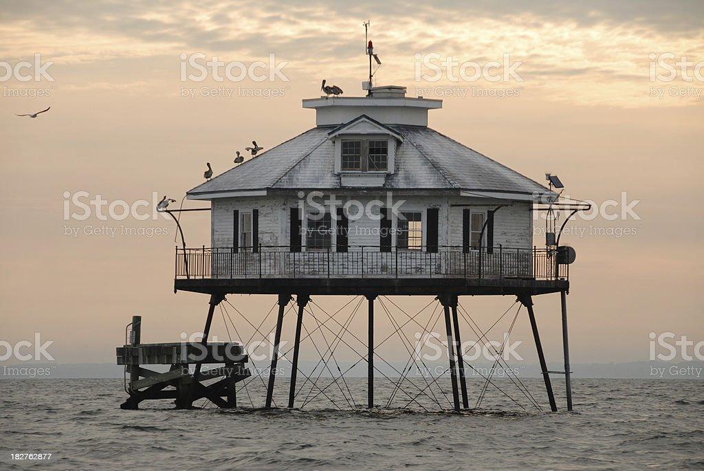 Midlle Bay Lighthouse, Mobile Alabama stock photo