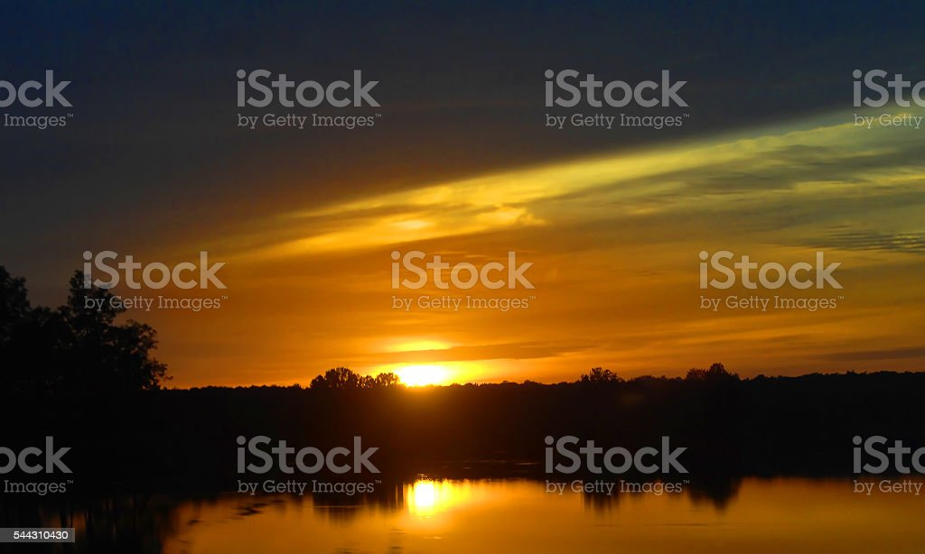 Midlothian sunset stock photo