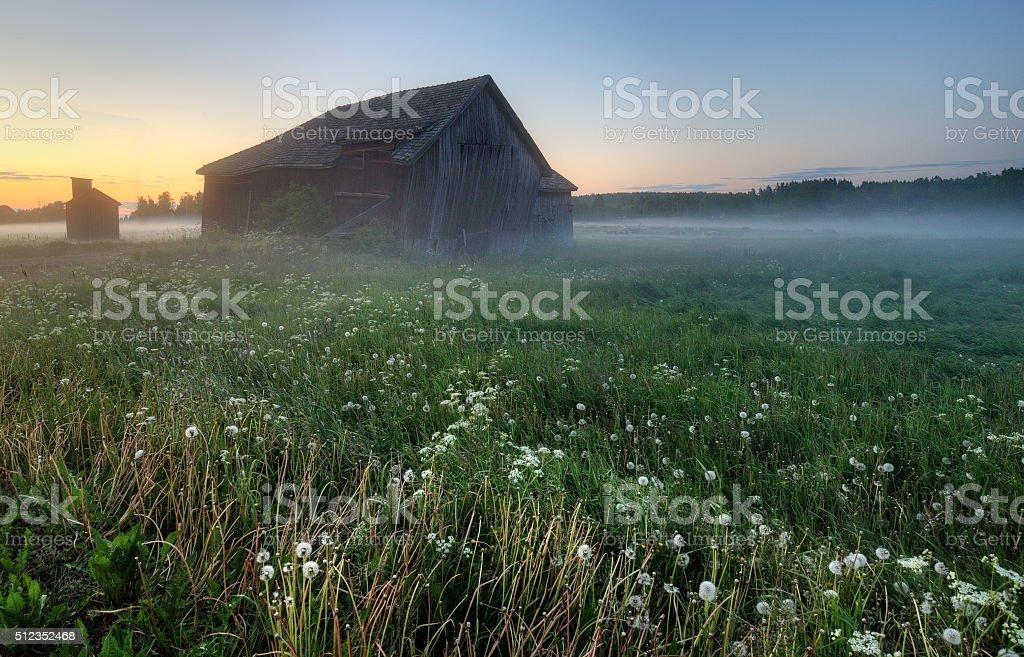 Midnight Barn stock photo
