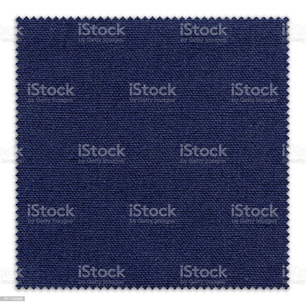 Midnight Blue Fabric Swatch (Clipping Path) stock photo