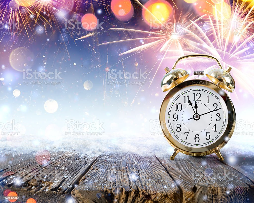 Midnight Celebration - turn of the year stock photo