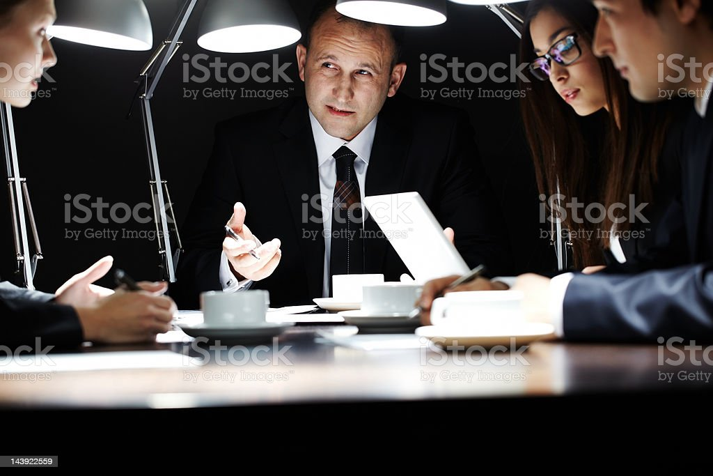 Midnight meeting royalty-free stock photo