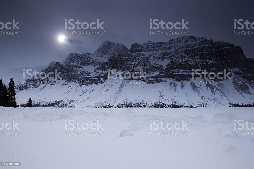 Midnight Mountain stock photo