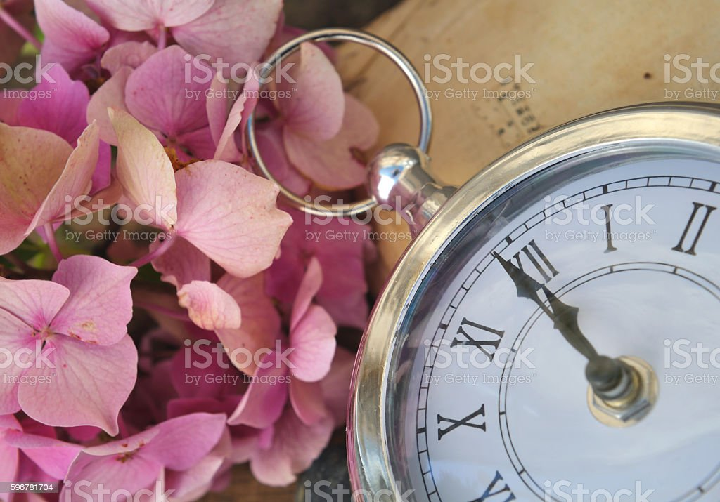 midnight o clock soon stock photo