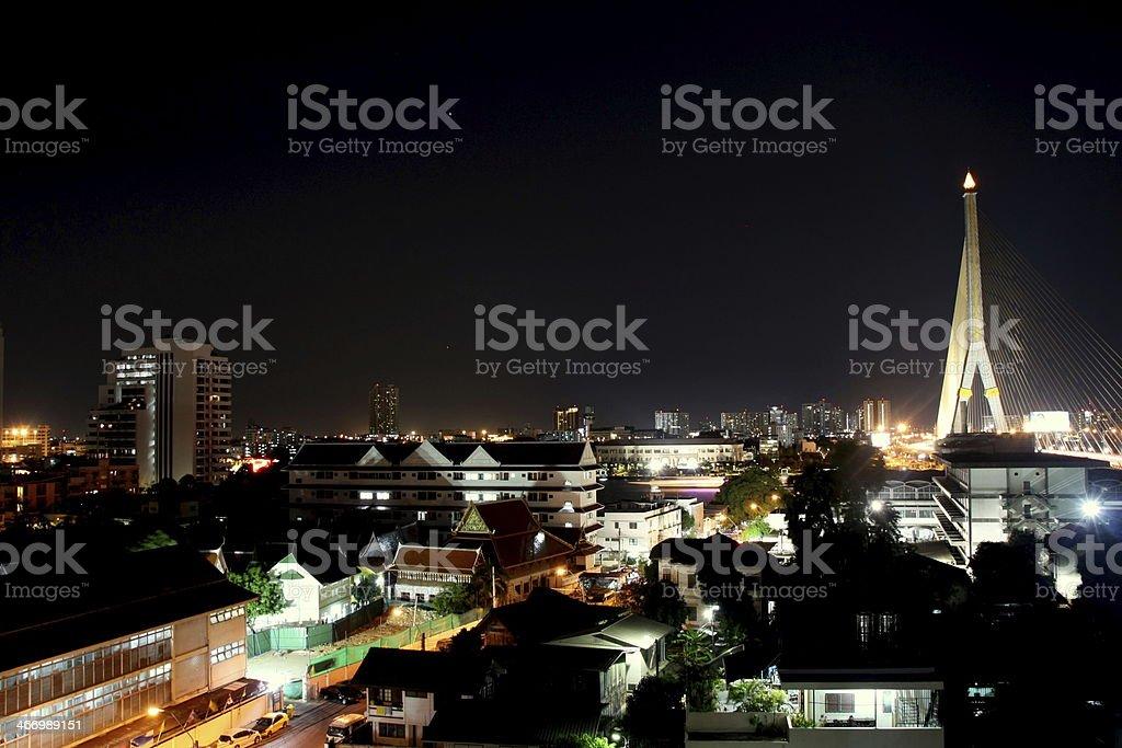 Meia-noite de Banguecoque foto de stock royalty-free