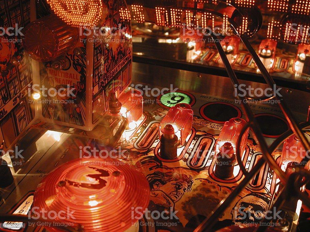 Midnight Pinball stock photo