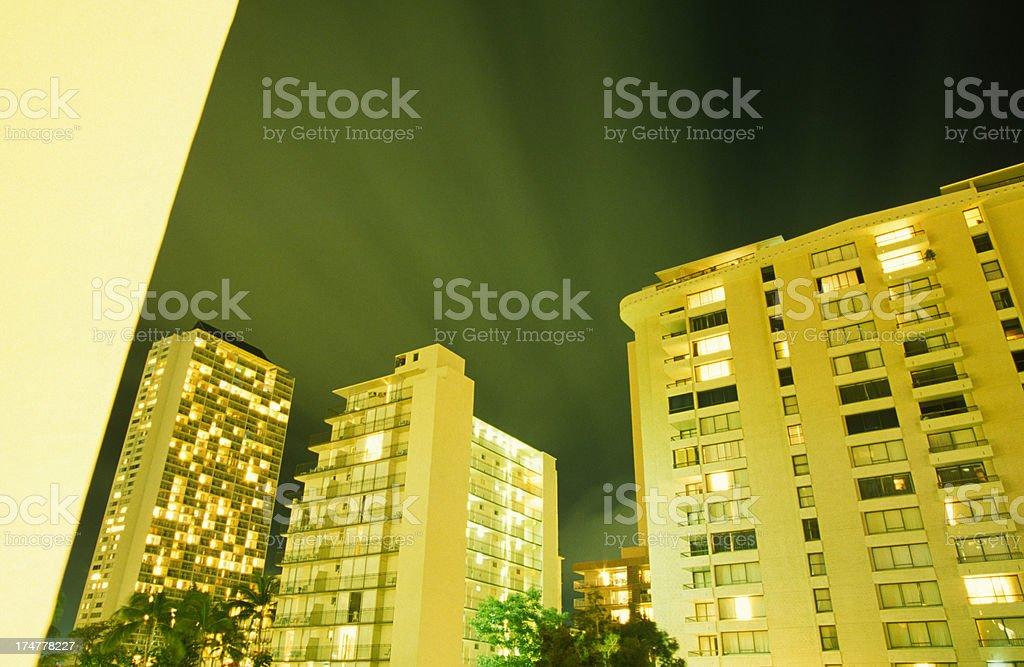 Midnight Resort royalty-free stock photo