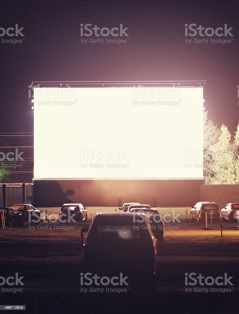 Midnight Screening stock photo