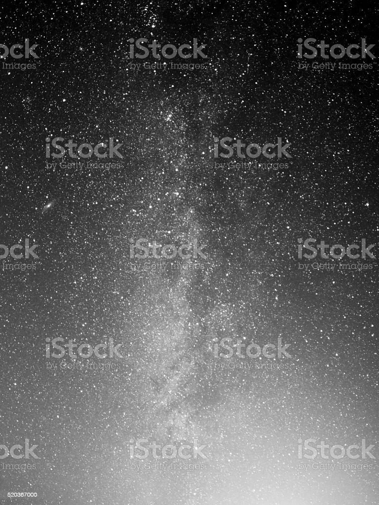 Midnight sky stock photo