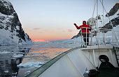 Midnight Sun - Lamaire Channel - Antarctica