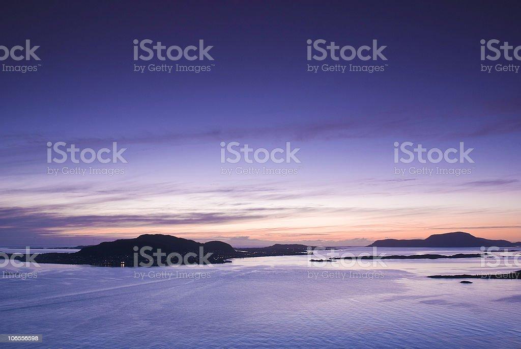 Midnight sun royalty-free stock photo