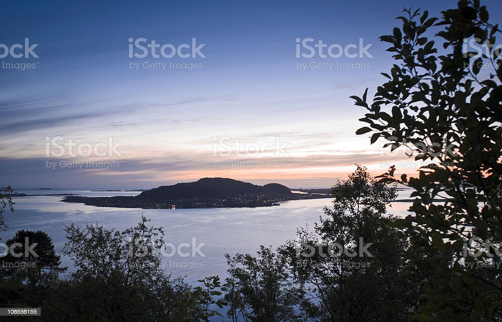 Midnight sunset royalty-free stock photo