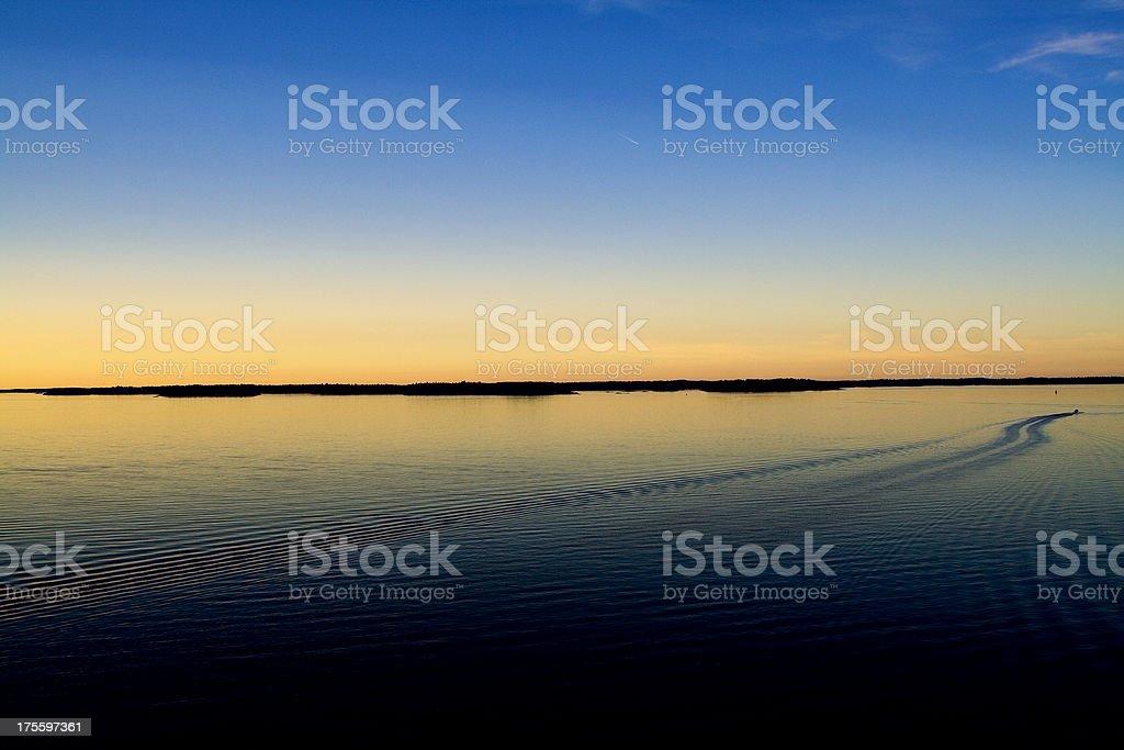 Midnight sunset royalty-free stock photo