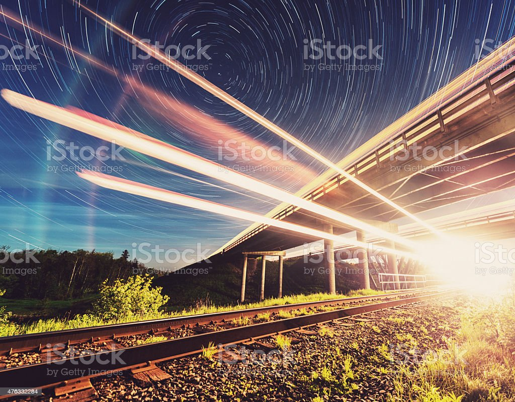 Midnight Train to Georgia stock photo