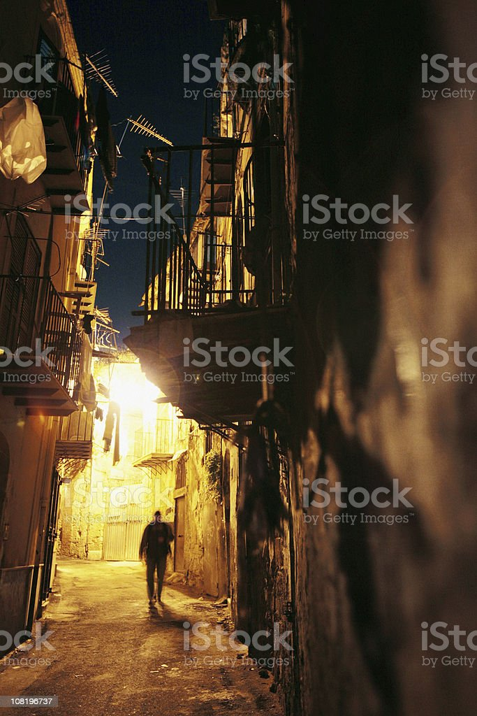 midnight walk royalty-free stock photo