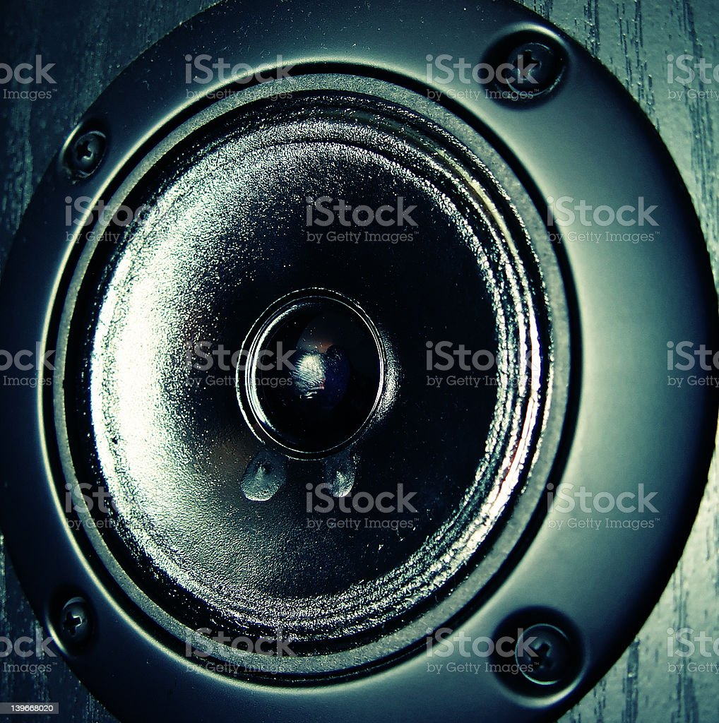 Mid-Range Speaker stock photo