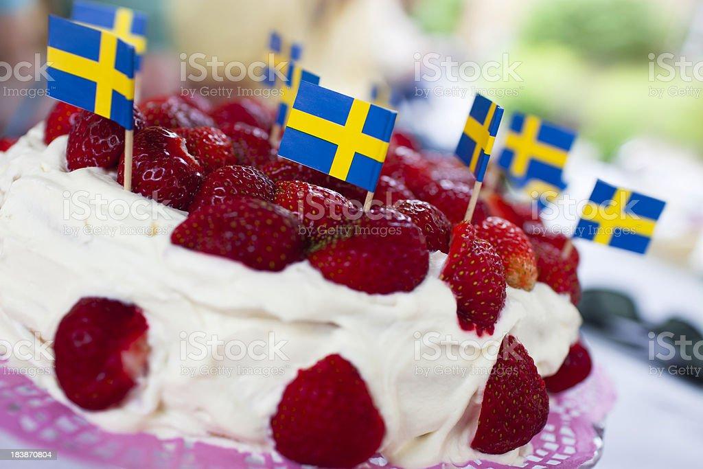 Midsummer cake stock photo