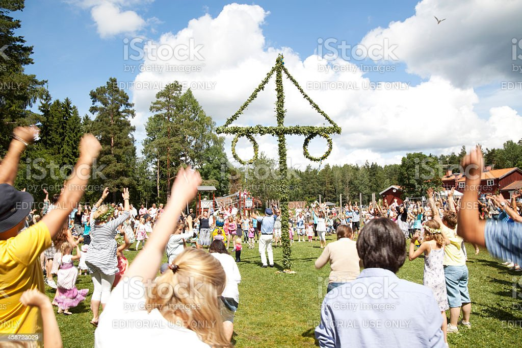Midsummer Celebration stock photo