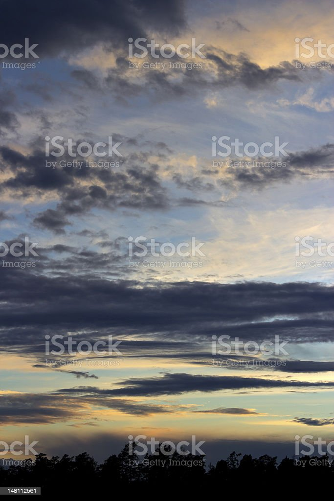 Midsummer clouds royalty-free stock photo